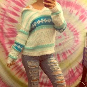 Sweaters - turquoise coze